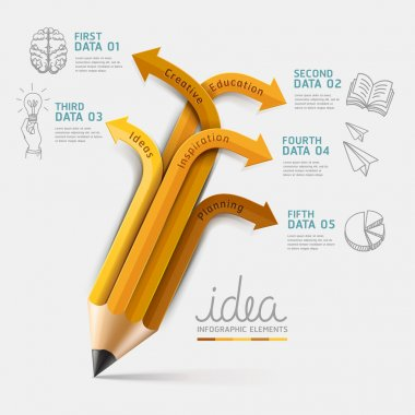 Education pencil Infographics