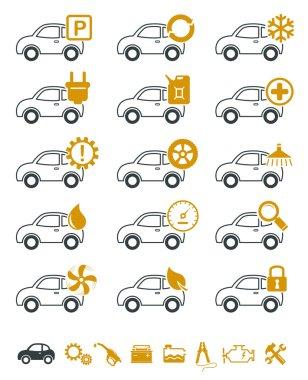 Car repair and service icons