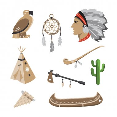 Native american indian icons