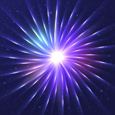 Abstract neon shining vector star