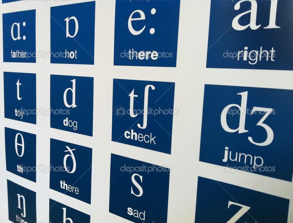 English alphabet phonetics — Stock Photo © nikoniano #42484249