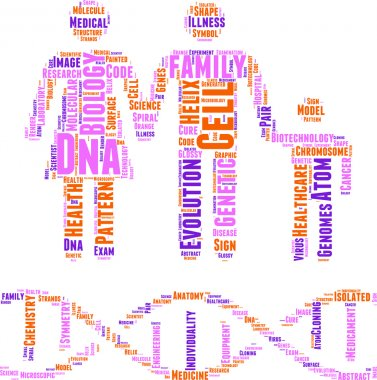 DNA concept vector tag cloud illustration