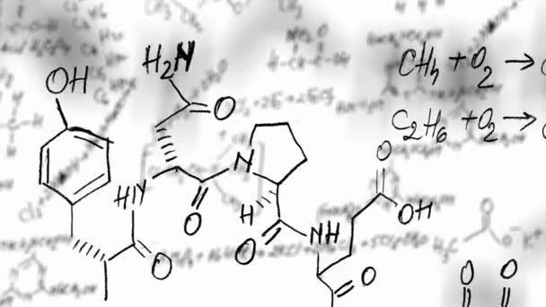 Chemie-Gleichungsschleife mit Alphakanal