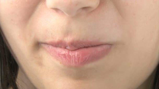 Close up of girls mouth