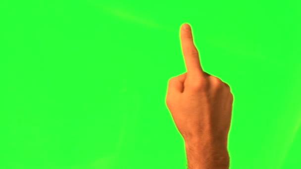 12 érintőképernyős gesztusok - férfi kézi