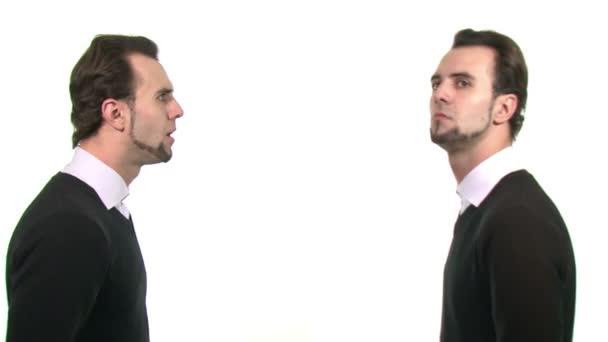 Two identical businessmen