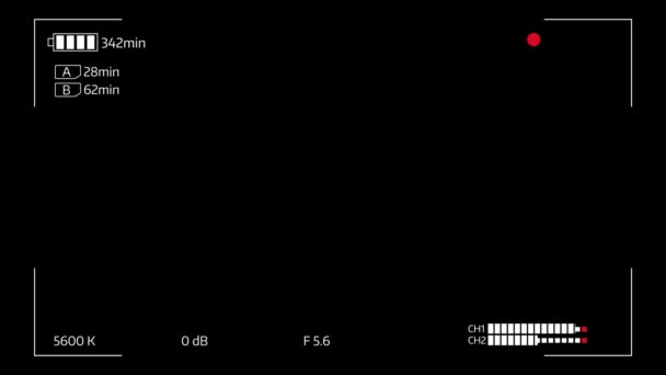 Camera viewfinder digital overlay display loop. Luma matte included.
