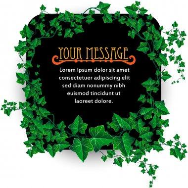 Beautiful Decorated Ivy Leaf Background Illustration