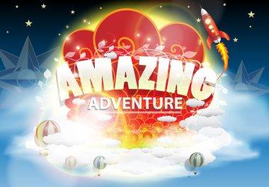 Beautiful Amazing adventure Fantasy Vector Illustration