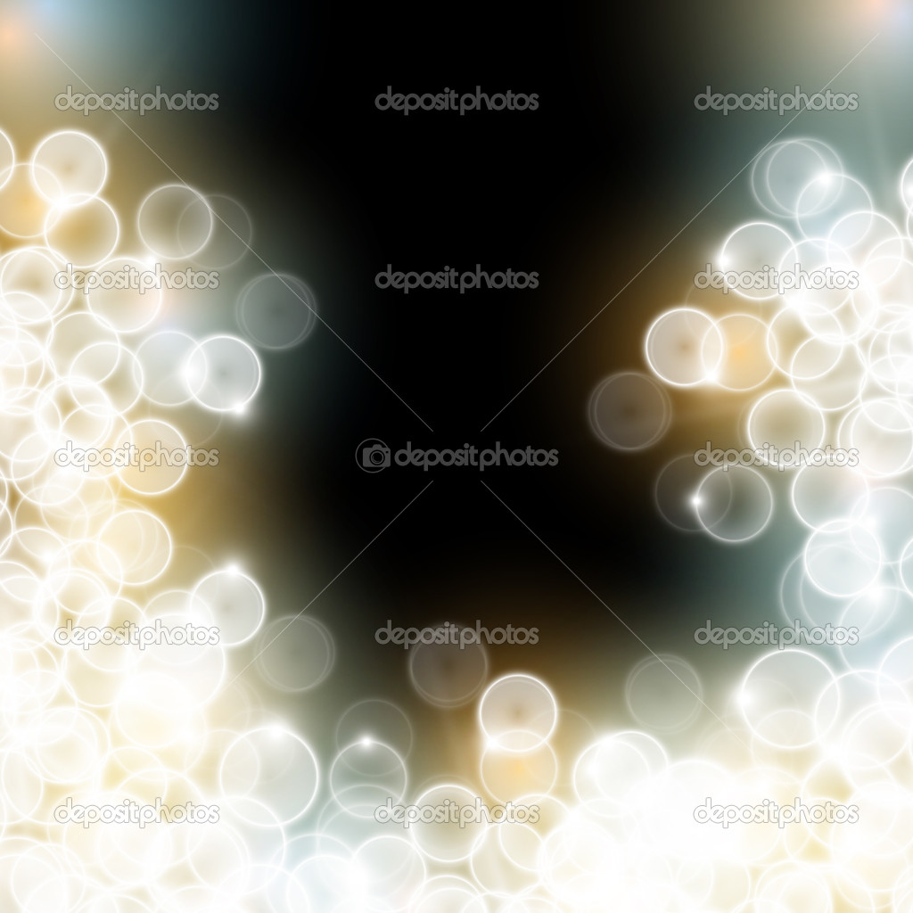 Blurred flickering lights with black background