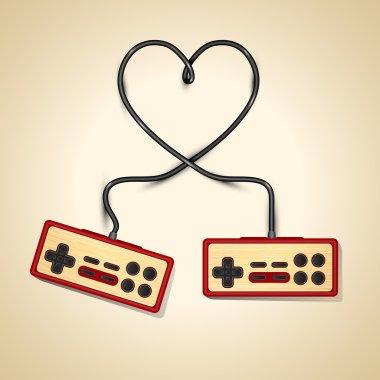 Vector vintage controler love