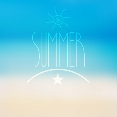 Vector summer background with blurred ocean