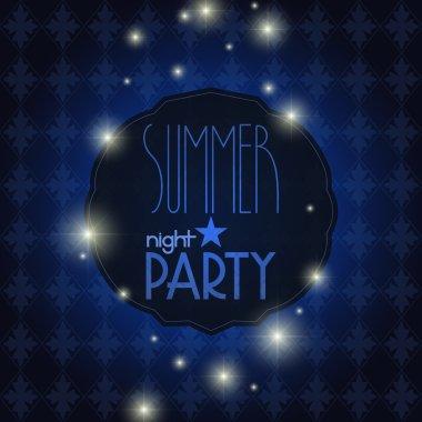 Vector elegant summer night party background