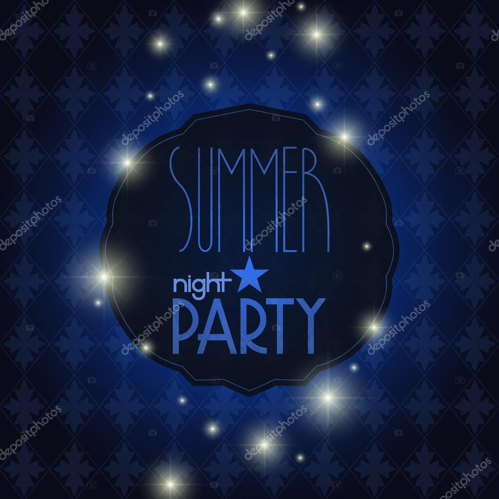 Vector elegant summer night party background