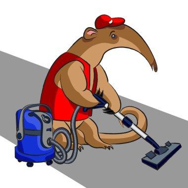 Anteater and vacuum cleaner