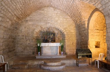 The synagogue church in Nazareth old city, Israel
