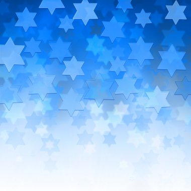 Elegant jewish background with Magen David stars and place for text stock vector