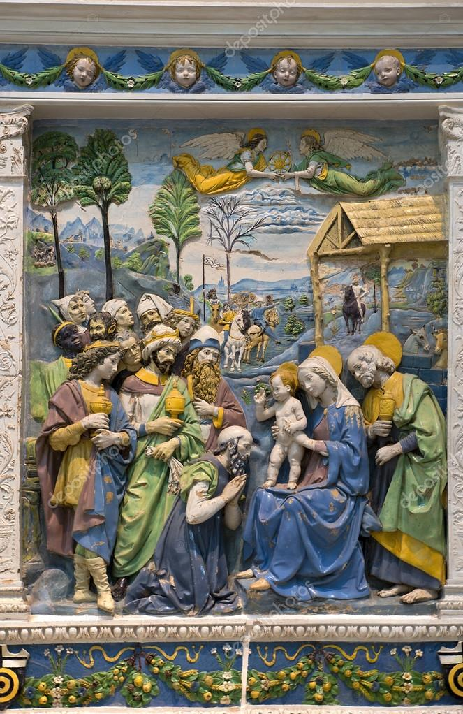 Resultado de imagen de della robbia Adoración de los Magos.