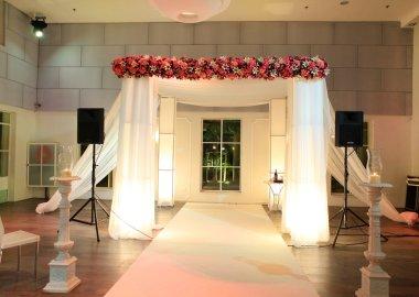 Wedding canopy (chuppah or huppah) in jewish tradition