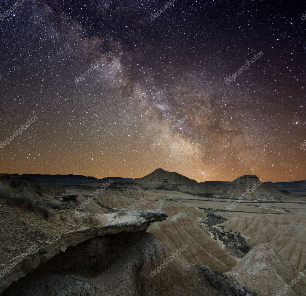 Milky Way over the desert