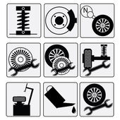 Fotografie Reparaturen-Auto-Auto-Ikonen
