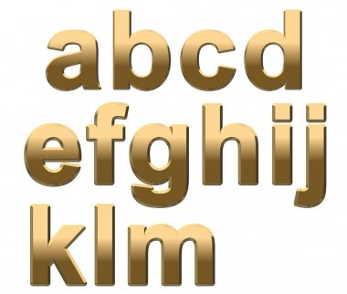 Gold Letters a - m