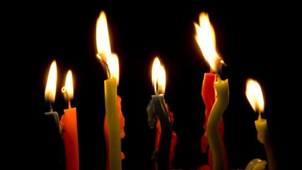 barvy svíček, timelapse.