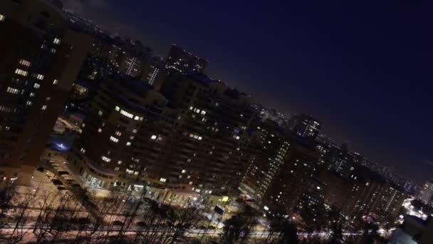 noční město silnice timelapse