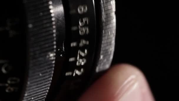Vintage Film Objektiv. Blendenring. Makro erschossen