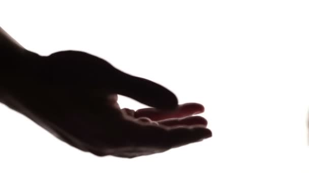 držení rukou silueta