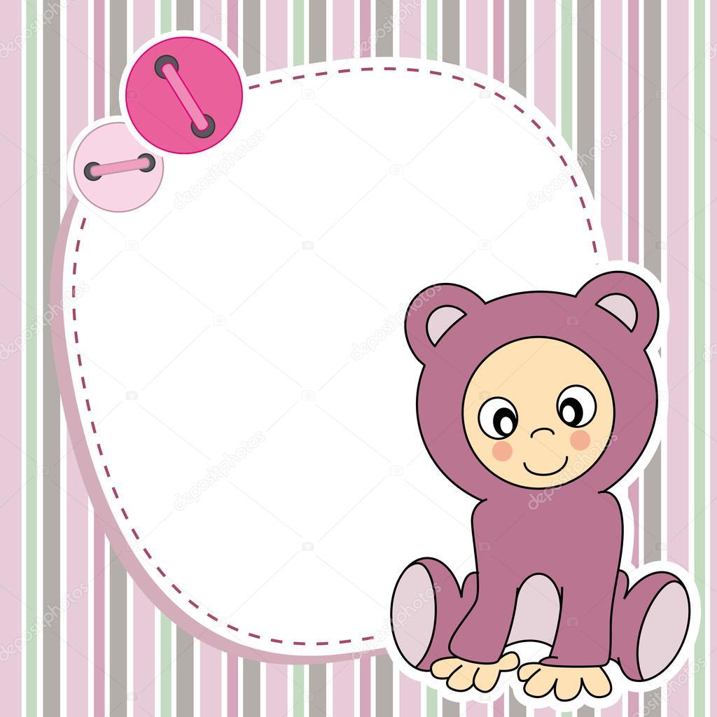 marco para niña — Vector de stock © sbego #24547743