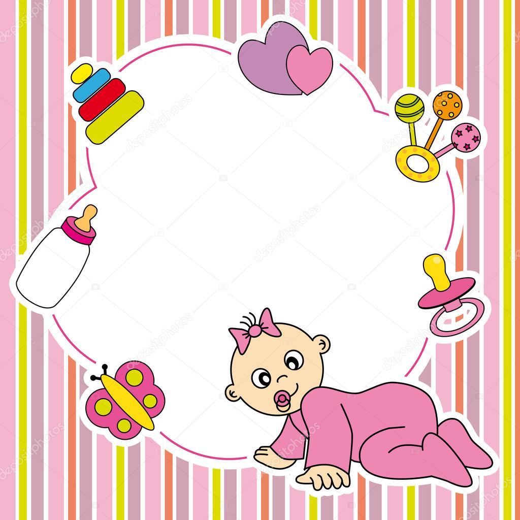 Frame baby girl — Stock Vector © sbego #25628187