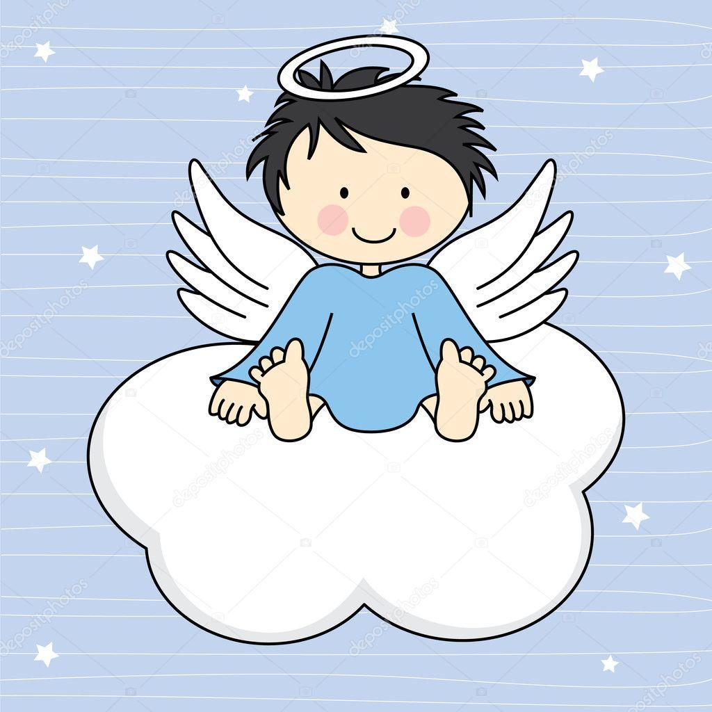 Angel wings on a cloud.