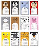 zvířata kalendář 2014