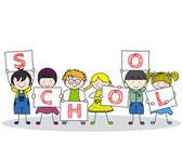 děti s školy plakát