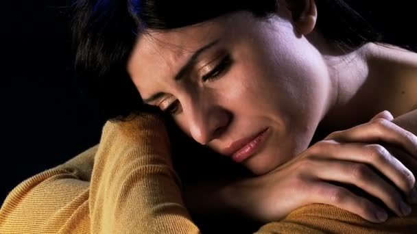 Woman feeling lonely and depressed