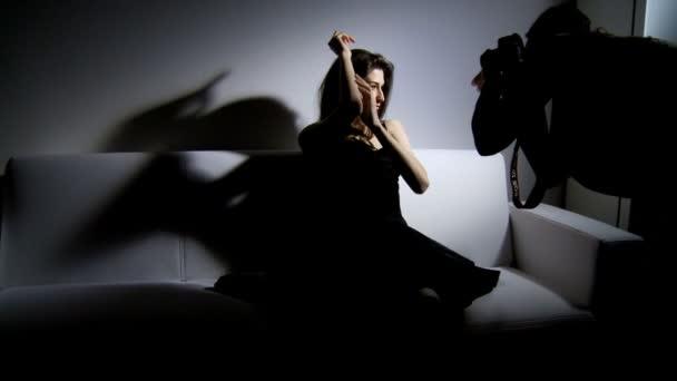 fotograf a krásná modelka