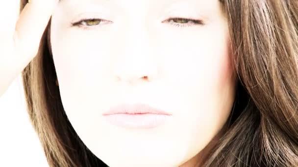krásný ženský model s make-upem