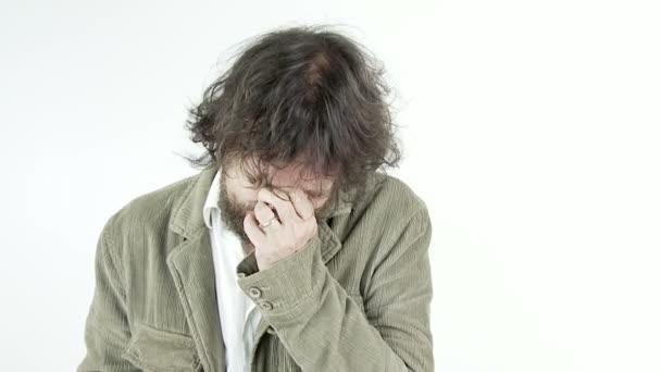 Sad abandoned man crying