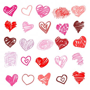 Heart. Set of design elements. Vector illustration clip art vector