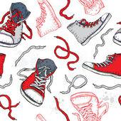 Tenisky. boty vzor bezešvé