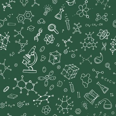 Chemistry hand draw background