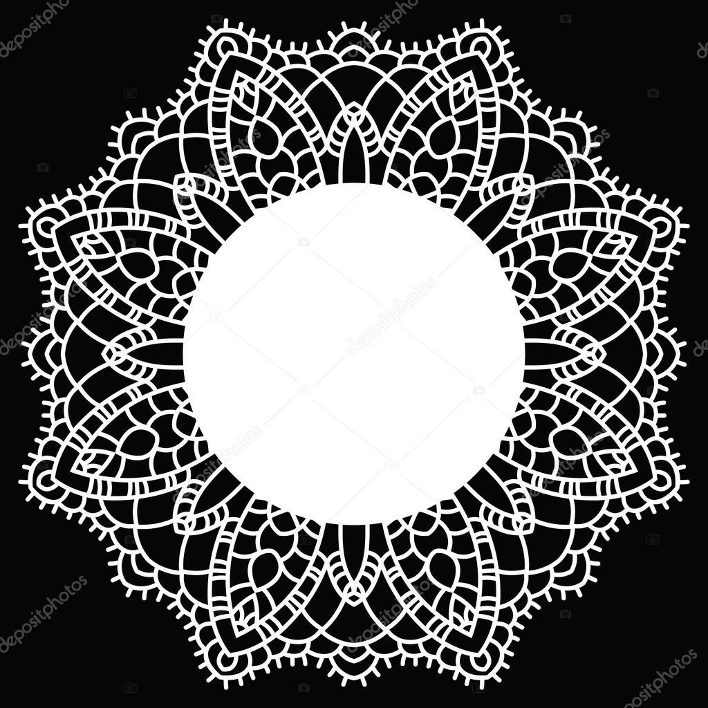mandala encaje de ganchillo — Vector de stock © katyaulitina #41786773