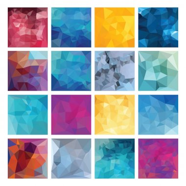 Polygonal  vector background set.