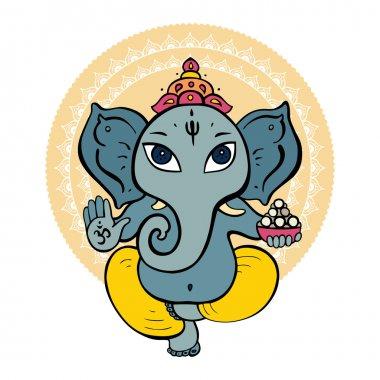 Hindu God Ganesha. Vector hand drawn illustration. stock vector