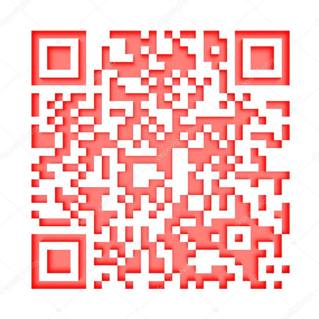 Monochromatic red QR code 1 — Stock Photo © madgooch #12898864