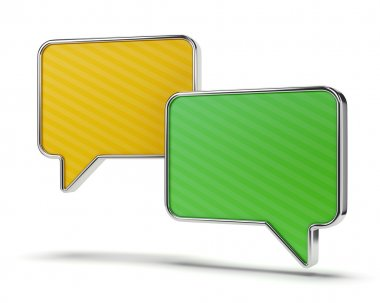 Green and yellow speech bubbles
