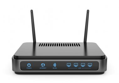 Black wi-fi router