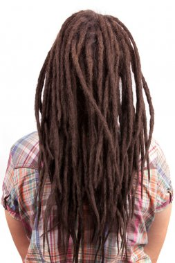 Young girl with dreadlocks