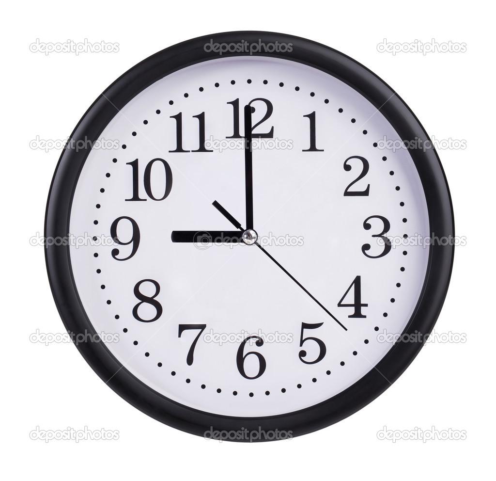 Nueve Horas En La Esfera De Un Reloj Stockfoto